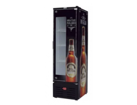 Cervejeiro 431 litros preto tampa vidro e cega Fricon